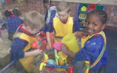Reception having fun!