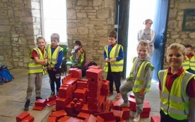 Class 1 at Prudhoe Castle
