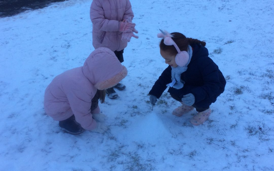 Class 2 and the Snowman!